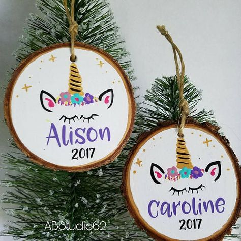 15x DIY Crafts Natural Wood Slices Christmas Tree Ornaments Hanging Plaque