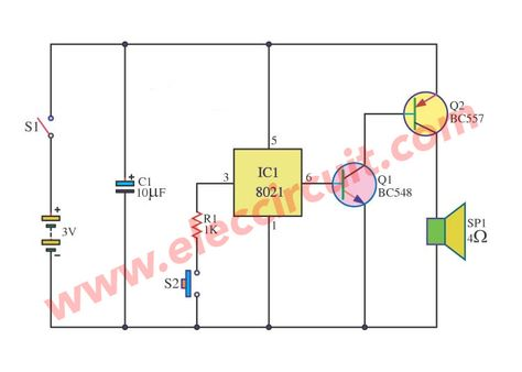sound bell circuit with ic 802112 8211 12v 1a Low Voltage Led Indicator Power Supply By Lm317 #12
