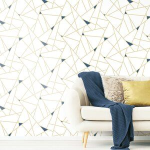Fannie Fracture 16 5 L X 20 5 W Peel And Stick Wallpaper Roll In 2021 Peel And Stick Wallpaper Wallpaper Roll Room Visualizer