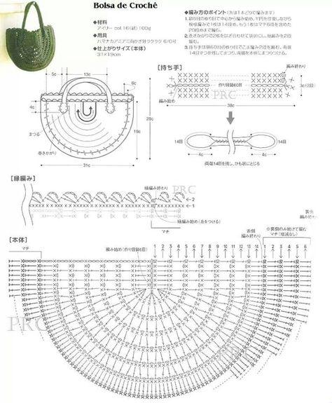 62+ ideas for crochet bag pattern free diagram ganchillo  crochet and knitting
