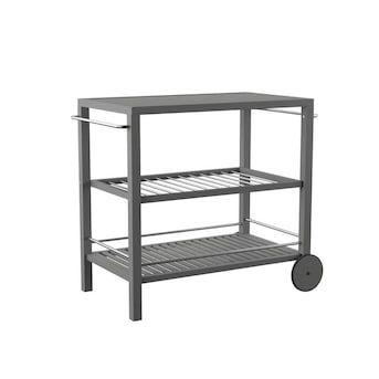 Boston Loft Furnishings Jarnos Gray Wash Finish Acacia Outdoor Serving Cart Lowes Com Outdoor Bar Cart Outdoor Bar Furniture Outdoor Serving Cart