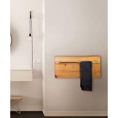 Horizontaler Handtuchwarmer Und Heizkorper Aus Holz 500 Watt Mit