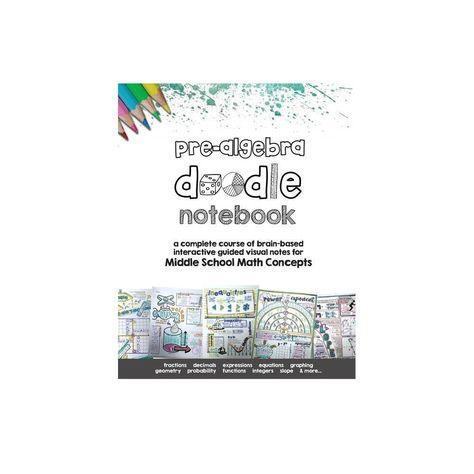 Pre Algebra Doodle Notes - by Math Giraffe (Paperback)