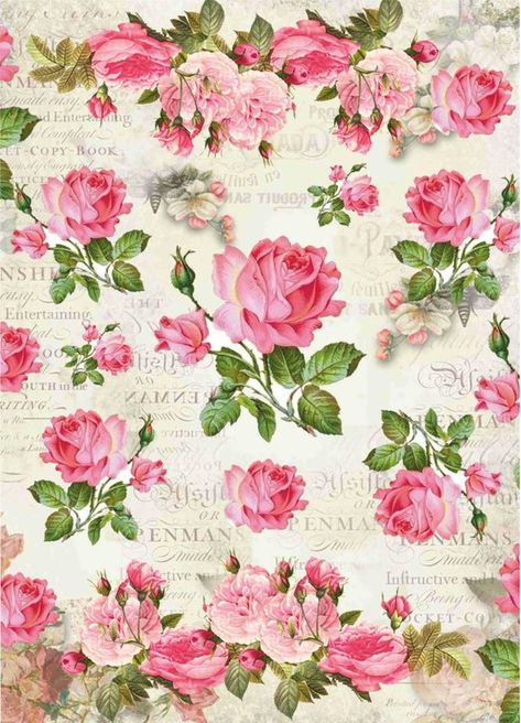 Art paper thin Scrapbooking Decoupage paper napkins Vintage print designer Collage Wrapping Craft Handmade roses flowers paper 8X11