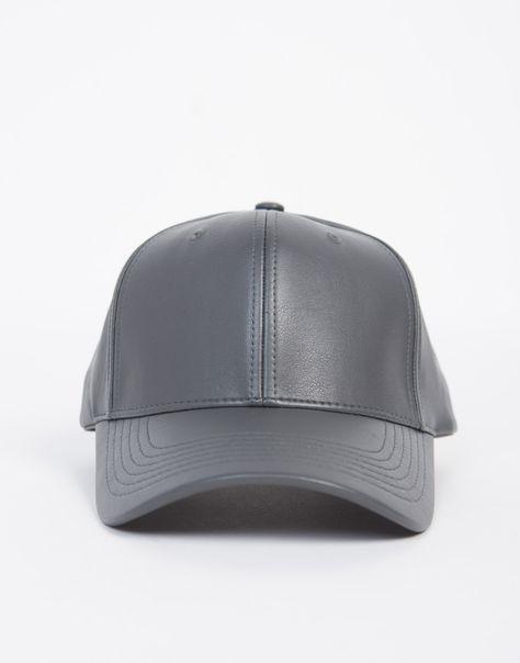 Sporty Leather Baseball Cap