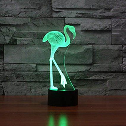 Amazon Com Smartcoco 3d Flamingo Led Night Light 7 Colors Change Decor Touch Led Lamp Lamps Light Fixtures Lamp Indoor Lamp 3d Lamp