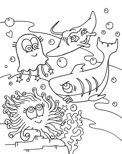 kinder malvorlagen unterwasserwelt - malvorlagen