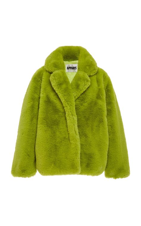 Manon Faux-Fur Coat by Apparis Trajes Kylie Jenner, Facon, Mode Style, Clothing Items, Aesthetic Clothes, Pretty Outfits, Mantel, Madrid, Fashion Looks