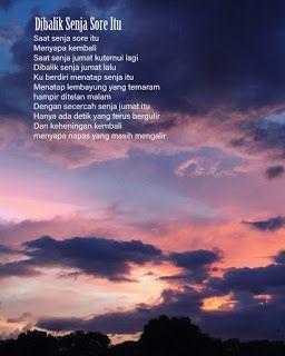 a poem a night dibalik senja sore itu puisi sajak kutipan