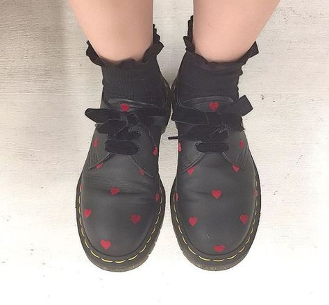The 1461 Lazy Oaf shoe. Worn by name.minori. (With images