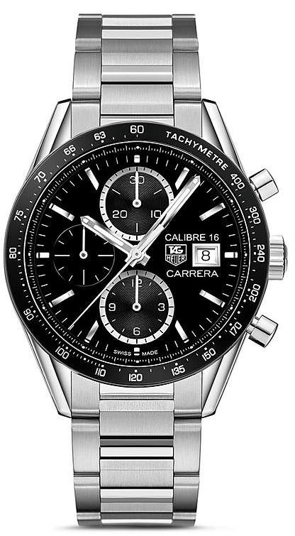 Tag Heuer Carrera Automatic Tachymeter Watch, 41mm
