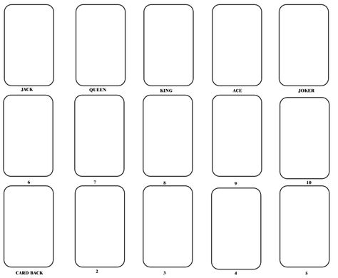 Playing Card Templates Free Download Blank Playing Cards