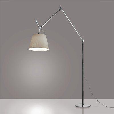 Artemide Tolomeo Mega 93 75 Led Task Floor Lamp Shade Colour Parchment Base Colour Aluminum Diffuser Size 17 Floor Lamp Led Floor Lamp Floor Lamp Shades