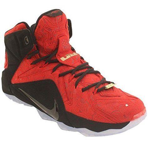 super popular ea372 5dd21 Nike LeBron XII 12 EXT University Red Black Metallic 748861-600 Size 9, 9.5   Nike  BasketballShoes