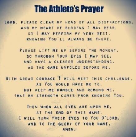 An Athletes Prayer.