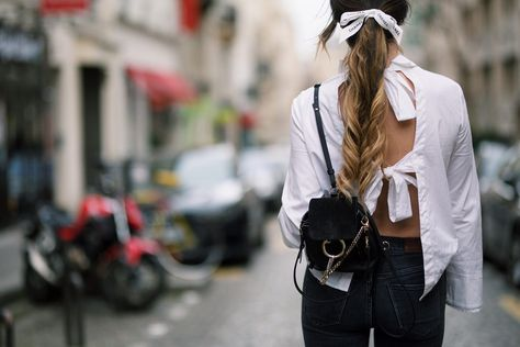 Chloé's mini backpack is the perfect companion.