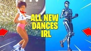 All New Fortnite Dances Emotes In Real Life Fortnite Real Life Dance