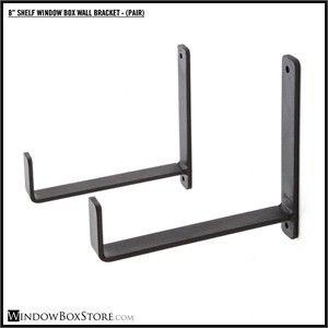 Black Window Box Brackets For Walls Window Box Brackets Metal Window Boxes Wall Brackets