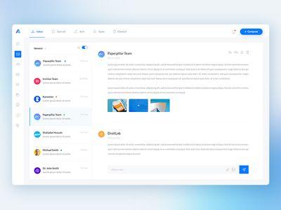 Web Application Inbox Messaging Dashboard Web Application Design Web Application Dashboard Design