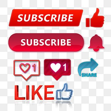 Subscribe Like Share Bell Icon Button Collection Subscribe Button Like Button Share Button Png Transparent Clipart Image And Psd File For Free Download Youtube Banner Design Free Download Photoshop Social Media