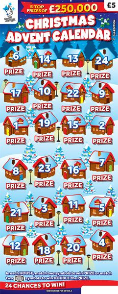 Christmas Advent Calendar 2018 Uk Scratchcard From The National