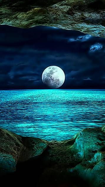 Sea Moonshine Beautiful Moon Nature Pictures Beautiful Landscapes