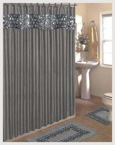 3 Must Have Bathroom Accessories Set Fabric Shower Curtains Silver Shower Curtain Elegant Shower Curtains