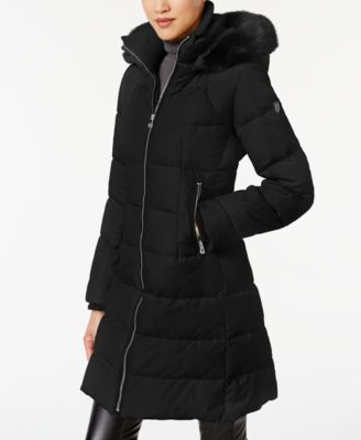 829b2e8db Vince Camuto Faux-Fur-Trimmed Puffer Coat   gifts   Black puffer ...