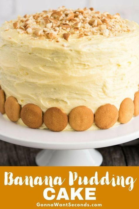 *COPIED Our Banana Pudding Cake is an incredibly moist three-layer dream cake with a cream cheese pudding filling, lots of bananas, and a luscious frosting. Homemade Banana Pudding, Banana Pudding Cake, Banana Pudding Recipes, Banana Cakes, Banana Bread, Pavlova, Mini Cakes, Cupcake Cakes, Pudding Frosting