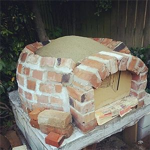 just finished making a woodfired pizza oven in my garden oven