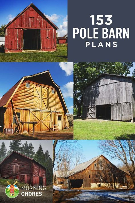 153 Free Diy Pole Barn Plans And Designs That You Can Actually Build Diy Pole Barn Pole Barn Plans Pole Barn House Plans