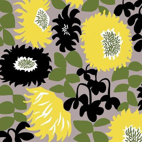 "Ophelia Pang on Instagram: ""#patterndesign  #textiledesign  #print  #surfacedesign  #surfacepattern  #printandpattern  #surfacedesigner  #floralprint #botanical…"""