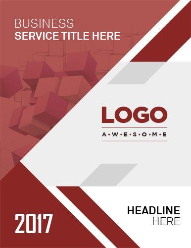 Report Cover Page Template Desain Grafis
