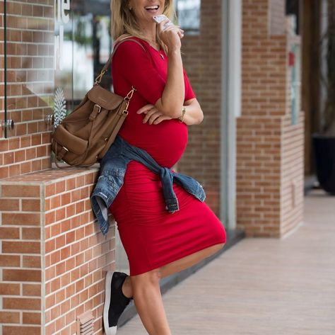 Mamãe moderna Looks para grávidas fashion GAROTA TE