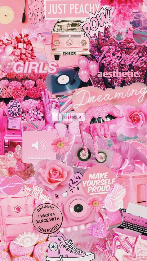 Wall Paper Aesthetic Collage Pink 63 Ideas Iphone Wallpaper Quotes Girly Pink Wallpaper Iphone Cute Backgrounds