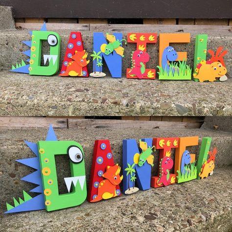 Dinosaur Name Dinosaur Letters Dinosaur Party Decor Dinosaur First Birthday, Baby Boy 1st Birthday, 1st Birthday Parties, Elmo Birthday, Birthday Ideas, Dinosaur Party Decorations, Birthday Party Decorations, Elmo Party, Mickey Party