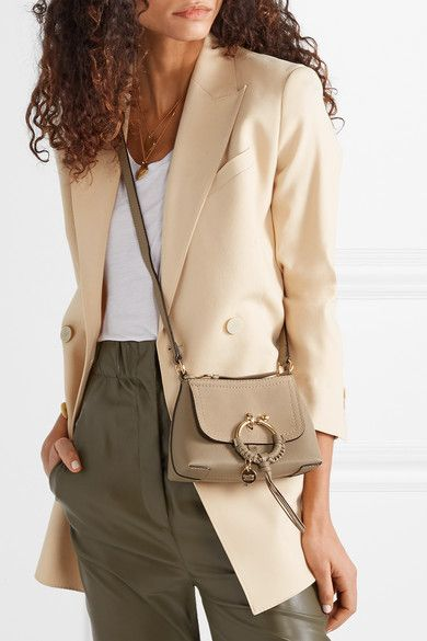 3c65aa3c See By Chloé | Joan mini textured-leather and suede shoulder bag ...