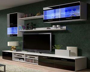 IKEA TV Wall Units | TV Wall Units TV Stand TV Cabinets   High Gloss Black