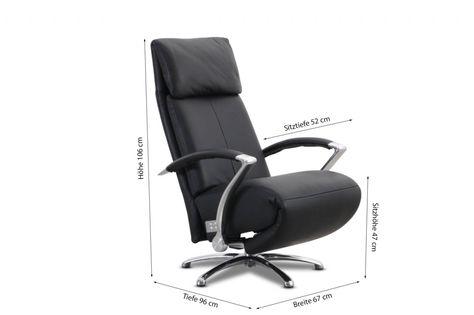 Willi Schillig Sessel 32510 KRONOS in Leder Z73 schwarz 62578 - cortica ergonomische relaxliege aus kork