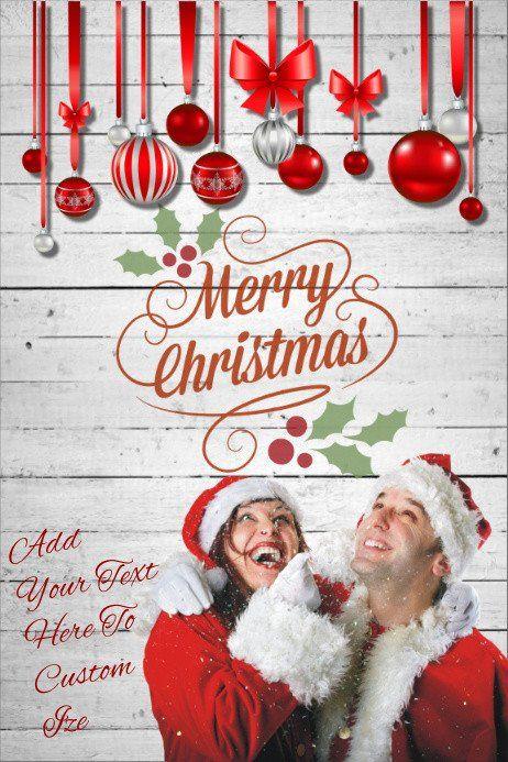Rustic Christmas Card Templates Lovely Merry Christmas Tree Ornament Decor Snow Invite Par Christmas Card Template Rustic Christmas Cards Holiday Card Template