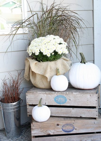 Neutral Fall Porch by Design, Dining + Diapers