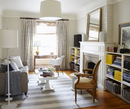 Tour A Farmhouse-Inspired Family Room & Kitchen | Tv placement, Open  shelving and Clutter