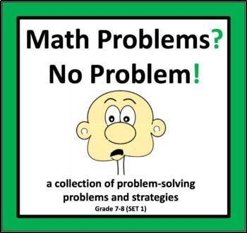 Math Problems No Problem Set 1 Math Word Problems Problem Solving Strategies Math