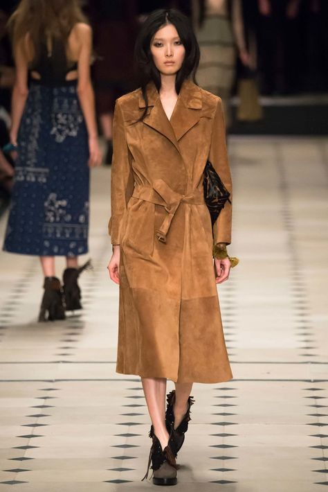 British fashion house Burberry Prorsum presented their new fall/winter 2015 collection at London fashion week fall Creative director Christopher Bailey