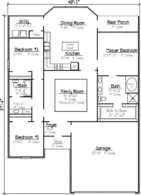 Plan 14158kb Louisiana Style Garden Home Plan House Floor Plans House Plans Log Home Floor Plans