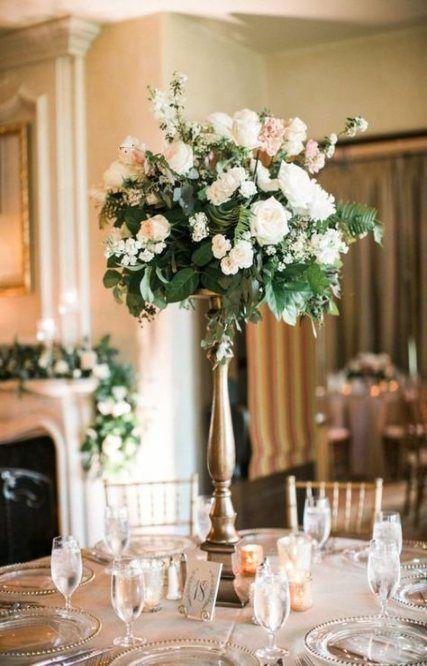 19 Ideas Wedding Reception Elegant Decor Center Pieces Wedding Floral Centerpieces Wedding Table Centerpieces Unique Wedding Flowers