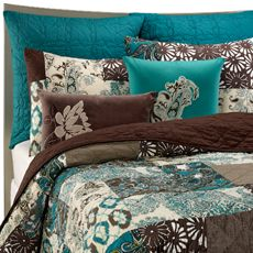 Baby Room Ideas - Teal and Brown Bedding - Bing Images | Teal and ... : teal and brown quilt - Adamdwight.com
