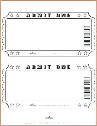 27 Movie Ticket Template For Word In 2020 Movie Night Party