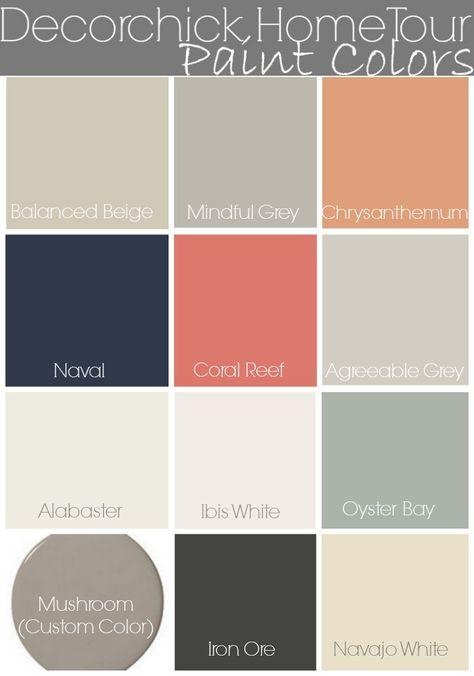 Decorchick Paint Colors and Home Tour | www.decorchick.com