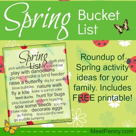 Spring Bucket List Roundup and Printable